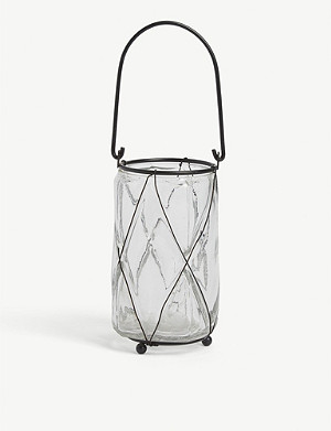 THE WHITE COMPANY Captured Wire tealight holder 13.5cm x 7.5cm