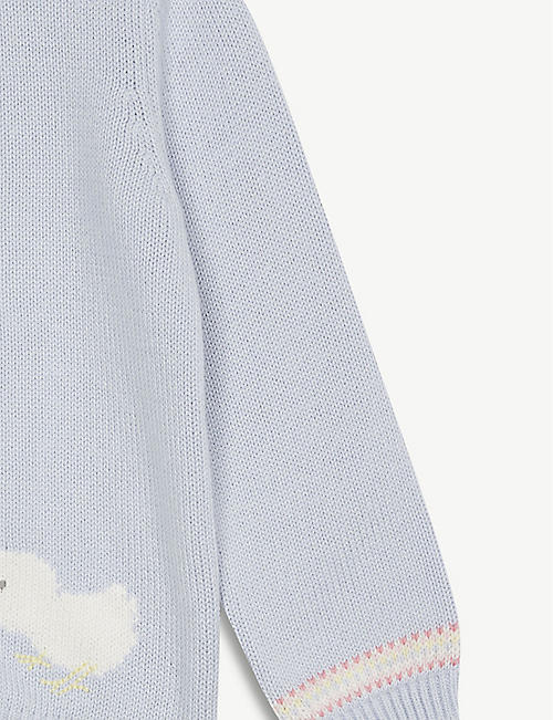 THE LITTLE WHITE COMPANY Chick motif cardigan 0-24 months