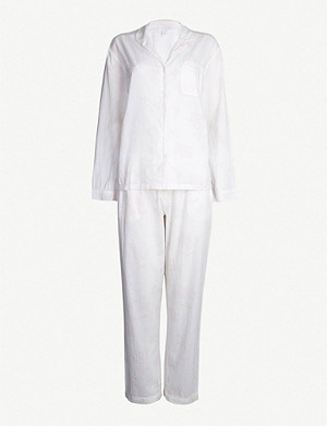 THE WHITE COMPANY Leaf-print cotton-jersey pyjama bottoms