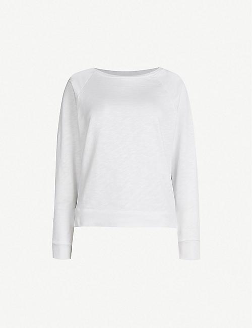 THE WHITE COMPANY Loopback cotton-jersey sweatshirt e08a536d6