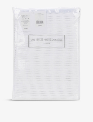 THE LITTLE WHITE COMPANY Satin-edged cellular cotton baby blanket