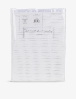 THE LITTLE WHITE COMPANY Cellular cotton cot blanket