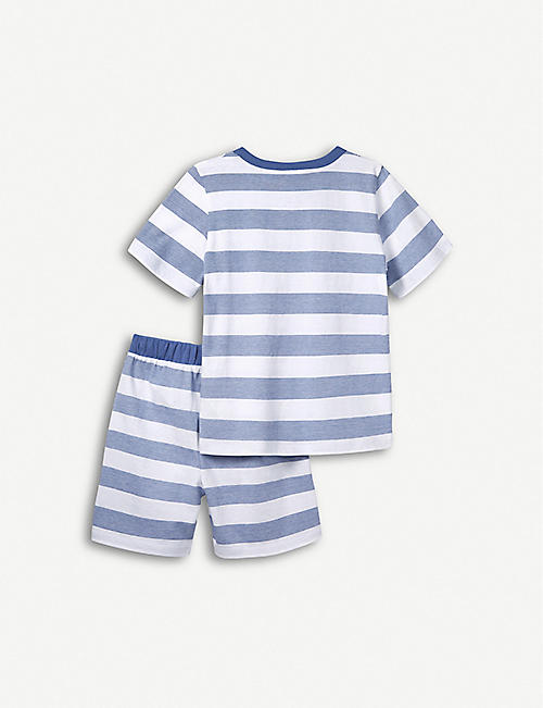 THE LITTLE WHITE COMPANY Classic striped cotton pyjamas 1-6 years