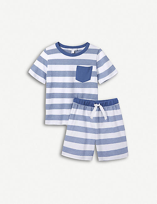 53e3cfeb15 THE LITTLE WHITE COMPANY Classic striped cotton pyjamas 1-6 years