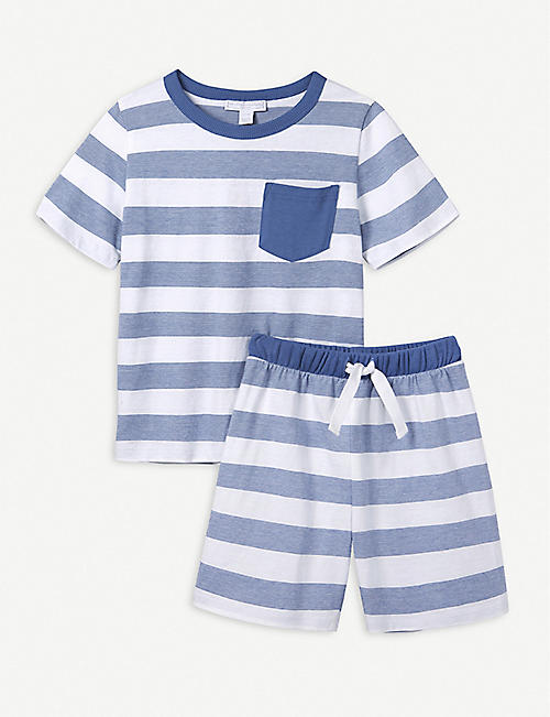 ef6b17c0406 THE LITTLE WHITE COMPANY Classic striped cotton pyjamas 7-12 years
