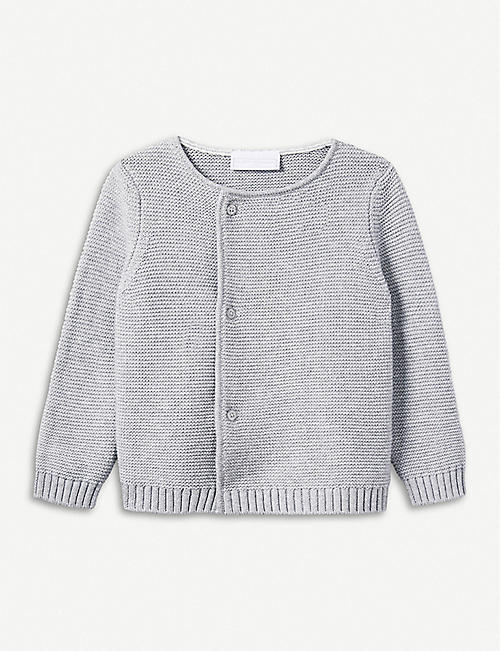 THE LITTLE WHITE COMPANY Knitted cotton cardigan 0-24 months
