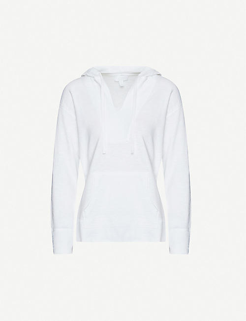 THE WHITE COMPANY Notch-neck cotton hoody