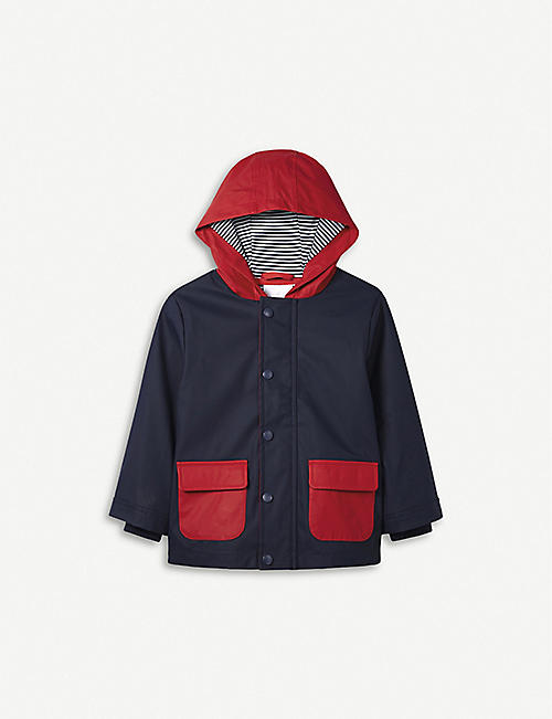 89efc0f26b THE LITTLE WHITE COMPANY Splash-resistant colour-block jacket 1-6 years