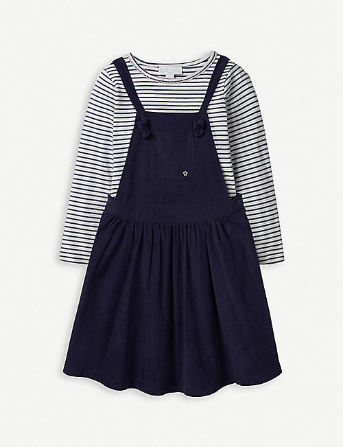 THE LITTLE WHITE COMPANY Corduroy pinafore dress and top 1-6 years