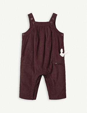 THE LITTLE WHITE COMPANY Corduroy dungarees and toy set 0-24 months