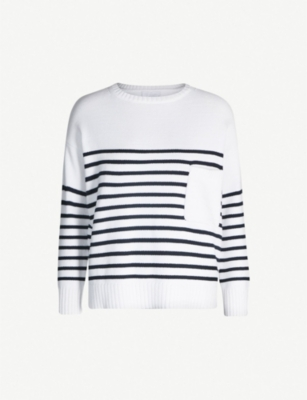 THE WHITE COMPANY Striped cotton-blend jumper