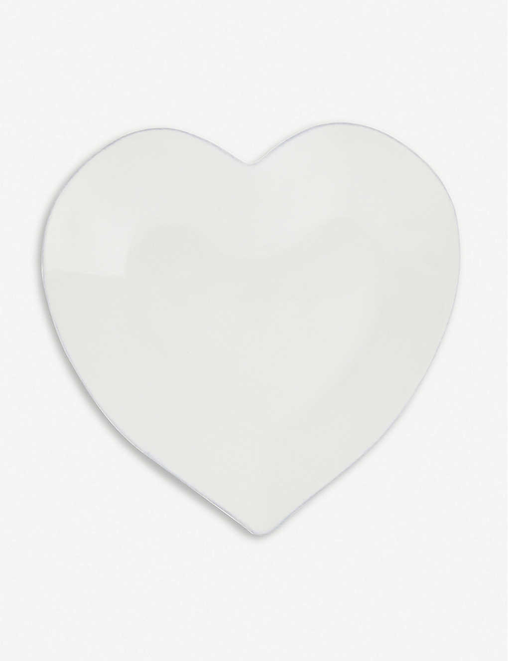 THE WHITE COMPANY: Porto heart-shaped stoneware dinner plate