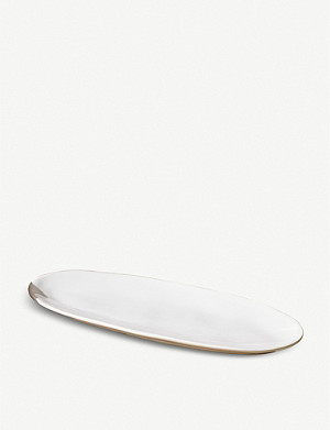 THE WHITE COMPANY Portobello small clay serving platter 25cm