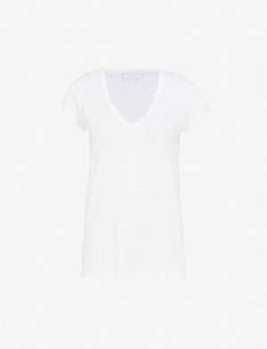 THE WHITE COMPANY V-neck cotton-jersey T-shirt