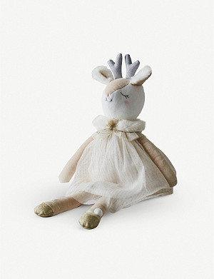 THE LITTLE WHITE COMPANY Darla Deer soft toy 43cm