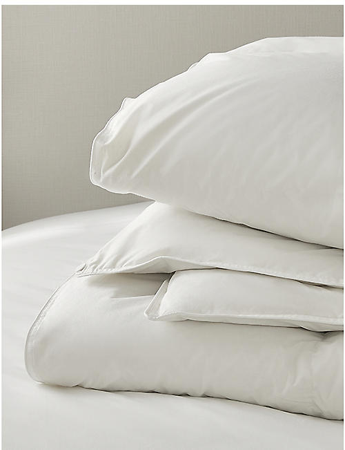 THE WHITE COMPANY: Duck down and feather super king cotton duvet 260cm x 220cm