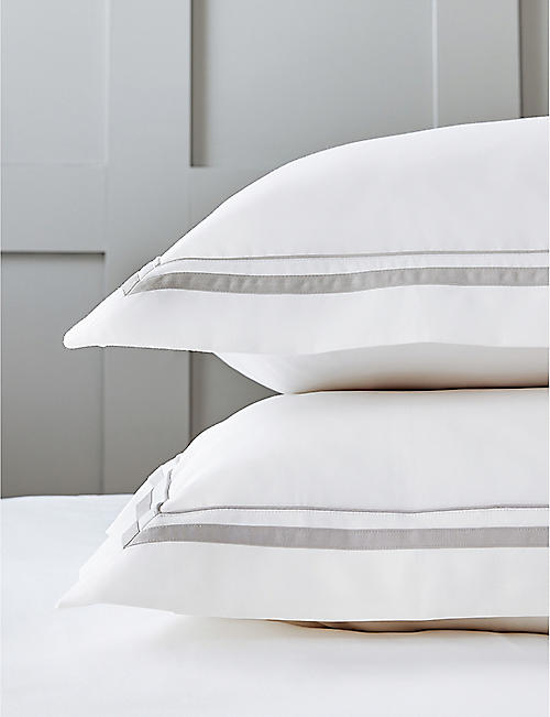 THE WHITE COMPANY: Cavendish standard oxford pillowcase 75x50cm