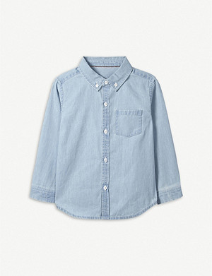 THE LITTLE WHITE COMPANY Chambray cotton shirt 1-6 years