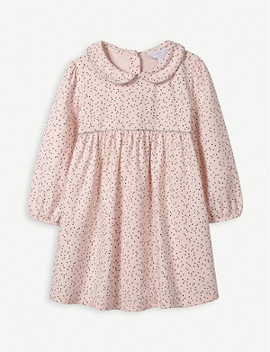 THE LITTLE WHITE COMPANY Ditsy Star-print stretch-cotton dress 0-24 months