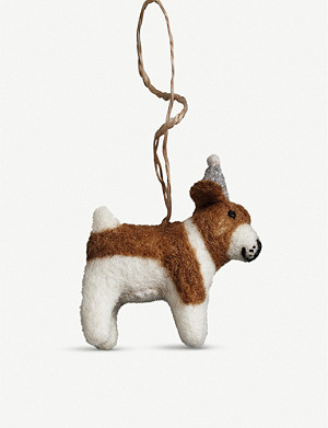 THE WHITE COMPANY Alfie beagle Christmas decoration 13cm x 6cm