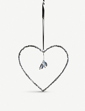 THE WHITE COMPANY Mistletoe heart decoration 28cm
