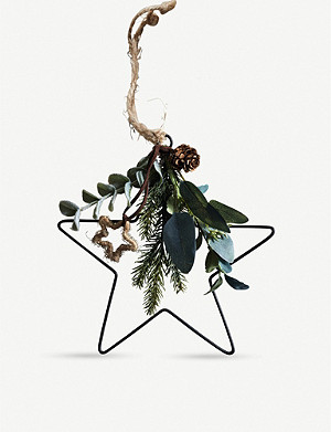 THE WHITE COMPANY Dressed Nordic Heart decoration 20cm