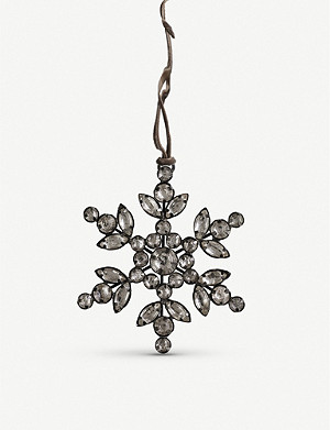 THE WHITE COMPANY Jewelled snowflake decoration 8cm