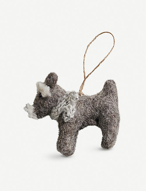 THE WHITE COMPANY Rufus schnauzer Christmas decoration 13cm x 6cm