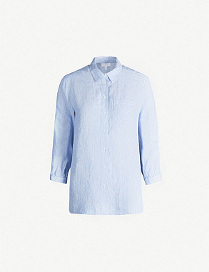 THE WHITE COMPANY Striped relaxed linen shirt