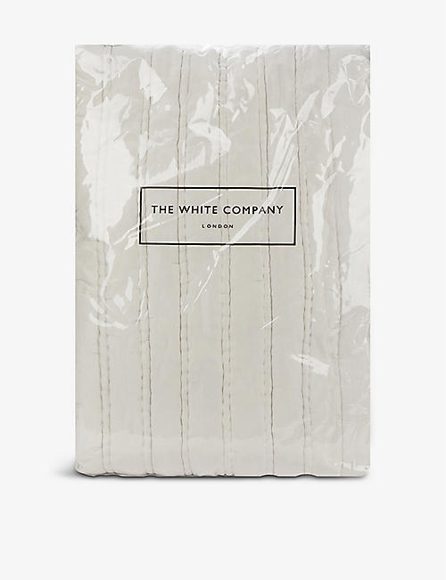 THE WHITE COMPANY: Elgin silk and cotton double duvet cover 215cm x 250cm