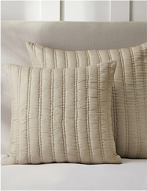 THE WHITE COMPANY Elgin silk and linen cushion cover 50x50cm