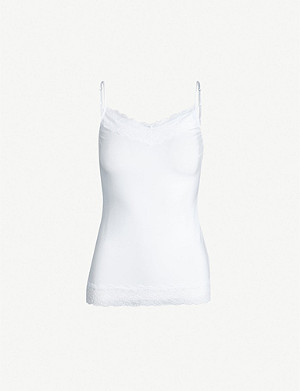 THE WHITE COMPANY Lace-trim stretch-jersey camisole