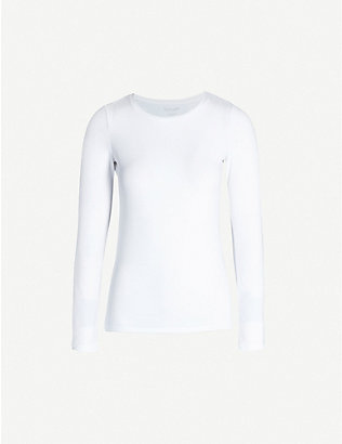 THE WHITE COMPANY: Essential long sleeve stretch-cotton top