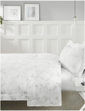 THE WHITE COMPANY Émilie double linen duvet cover 200x200cm