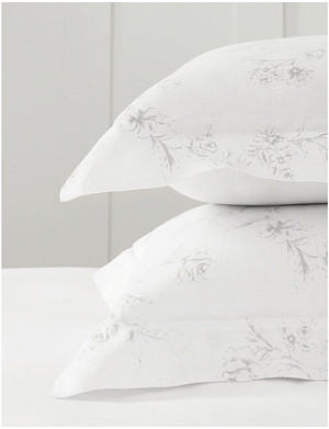 THE WHITE COMPANY Émilie linen pillowcase, super king 50cm x 90cm