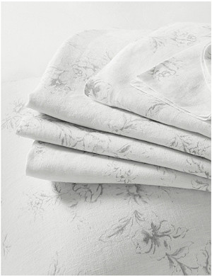 THE WHITE COMPANY Émilie linen flat sheet, super king 305cm x 275cm