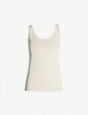 THE WHITE COMPANY Essential reversible stretch-cotton vest
