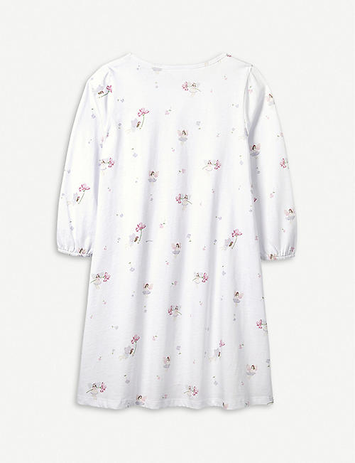 THE LITTLE WHITE COMPANY Eva Fairy cotton nightdress 7-12 years