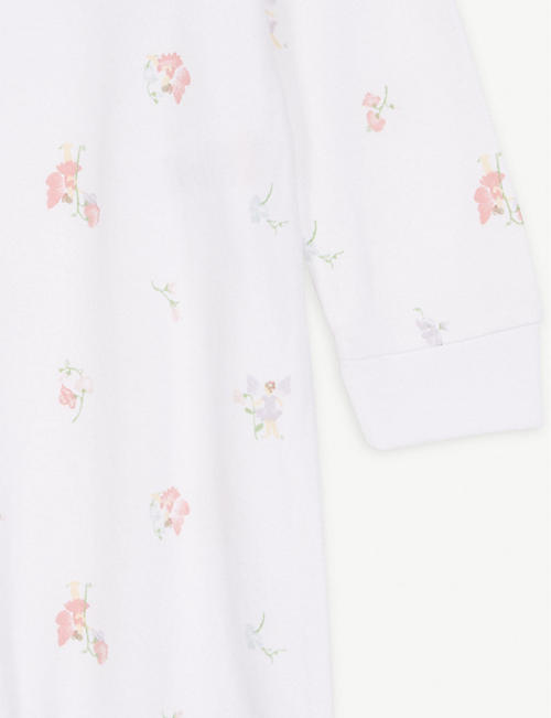 THE LITTLE WHITE COMPANY Fairy cotton sleepsuit 0-24 months