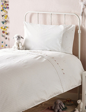 THE LITTLE WHITE COMPANY Fairy Easycare cot bed linen set