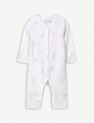 THE LITTLE WHITE COMPANY Fairy-print cotton sleepsuit 0-24 months