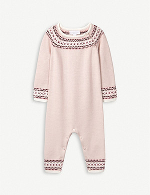 THE LITTLE WHITE COMPANY Fair Isle-patterned cotton romper 0-24 months