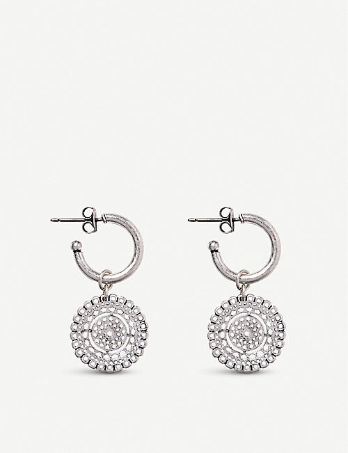 THE WHITE COMPANY Filigree disc hoop earrings