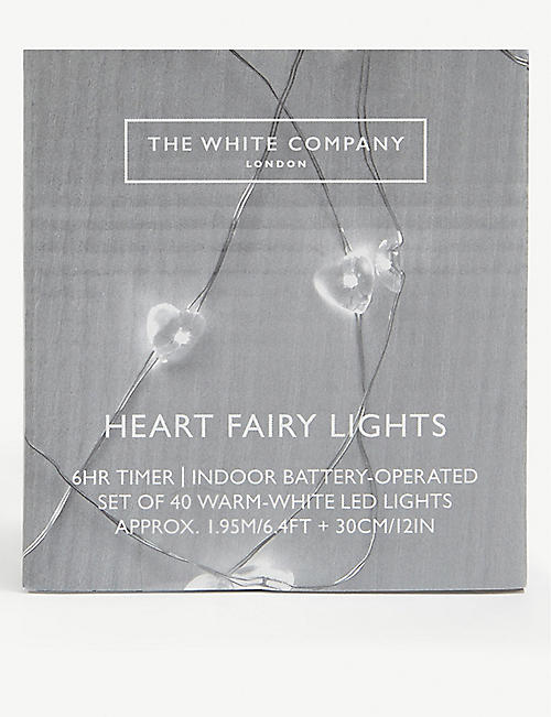 THE WHITE COMPANY: Heart Fairy Lights set of 40