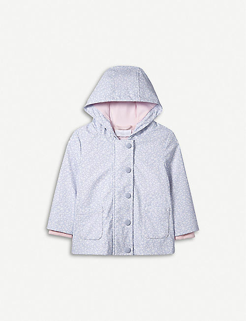 THE LITTLE WHITE COMPANY Floral Rainy Play shell rain jacket 1-6 years