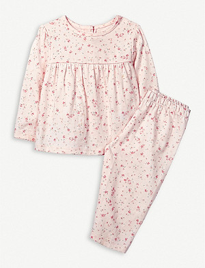 THE LITTLE WHITE COMPANY Floral-print cotton pyjama set 0-24 months