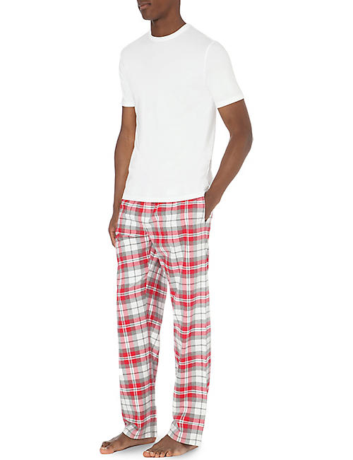 THE WHITE COMPANY Checked flannel pyjama bottoms