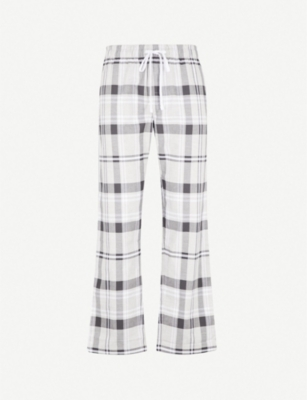 THE WHITE COMPANY Checked brushed-cotton pyjama bottoms