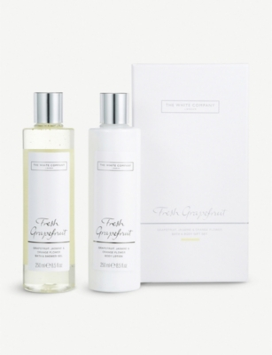 THE WHITE COMPANY Fresh Grapefruit Bath & Body gift set 250ml x 2