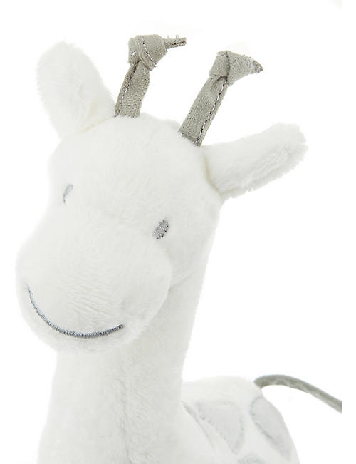 THE LITTLE WHITE COMPANY Georgia Giraffe squeak toy 26cm